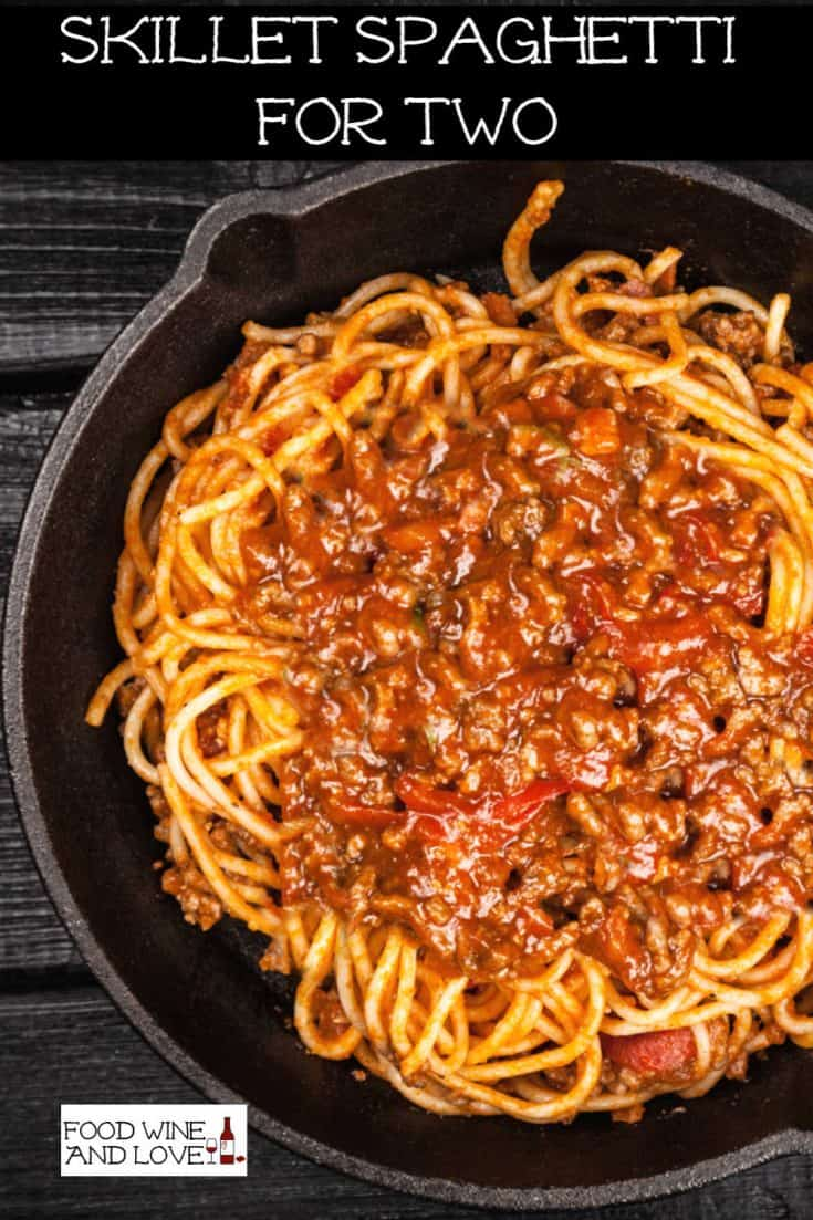 Enjoy a romatic dinner with someone that you care about when you serve up this really easy recipe for Skillet Spaghetti For Two