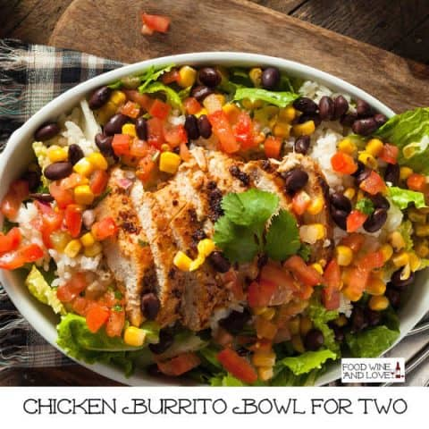 How to Make a Chicken Burrito Bowl for Two