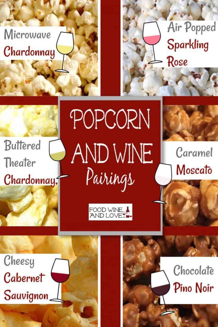 Popcorn and Wine Pairings #wine #popcorn #winepairing