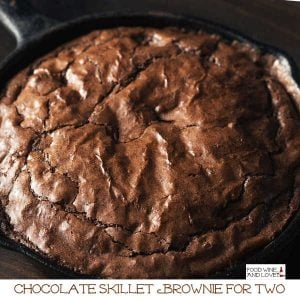 Chocolate Brownie Skillet Cake for Two