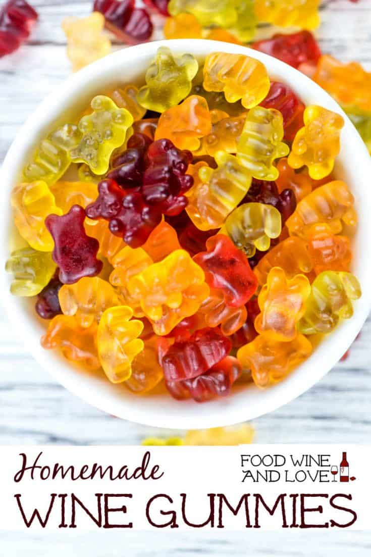 Homemade Wine Gummies #homemade #diy #gummy #gummies #bears #candy #wine #boozy
