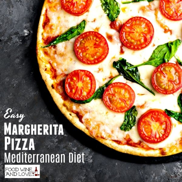 Mediterranean Diet Margherita Pizza Recipe