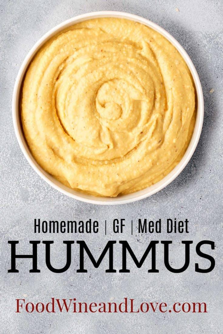 How to Make Homemade Hummus #glutenfree #gf #Mediterraneandiet #lowcarb #vegan #vegetarian