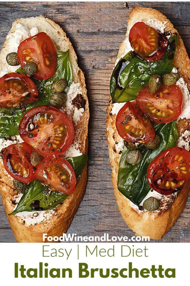 he Best Easy Italian Bruschetta  #appetizer #recipe #diy #homemade #easy #Italian #MedDiet