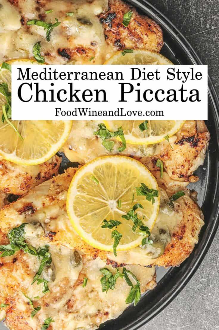 Mediterranean Style Chicken Piccata #chicken #recipe #mediterraneandiet #meddiet #lowcarb #glutenfree