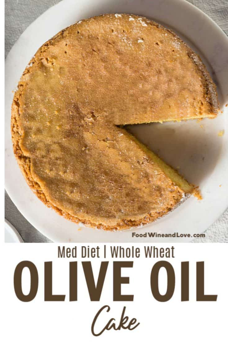 Mediterranean Diet Friendly Cake a delicious cake made with whole wheat flour #cake #meddiet #healthy #recipe #diy #homemade #dessert #yummy