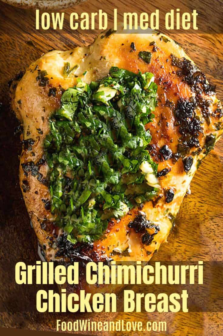 Grilled Chicken with Chimichurri Sauce #chicken #grilled #diet #recipe #lowcarb #yummy