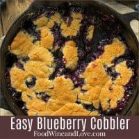 Easy Homemade Blueberry Cobbler