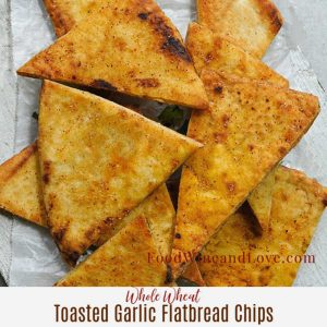 Whole Wheat Garlic Toasted Flatbread Chips