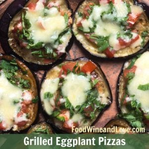 Grilled Eggplant Pizzas