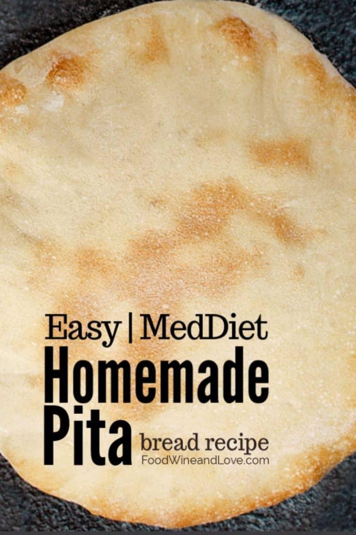 How to Make Pita Bread #pita #Greek #bread #diy #meddiet #homemade #recipe