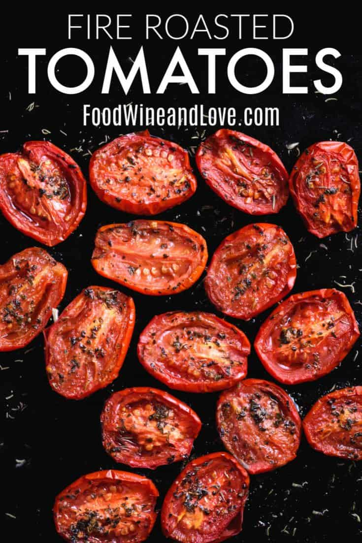 How to Make Fire Roasted Tomatoes #lowcarb #keto #healthy #meddiet #Mediterraneandiet #vegetable #recipe
