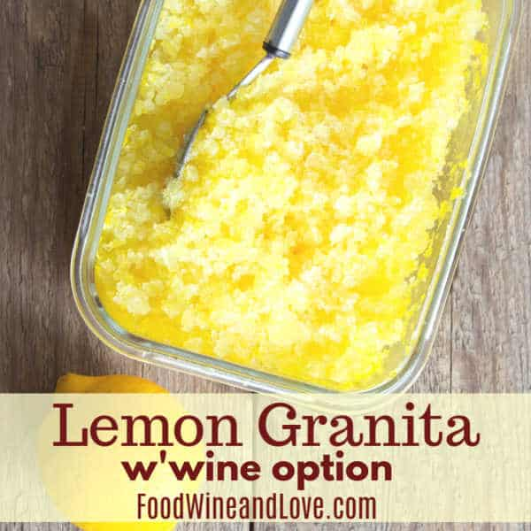 Easy and Delicious  Lemon Granita