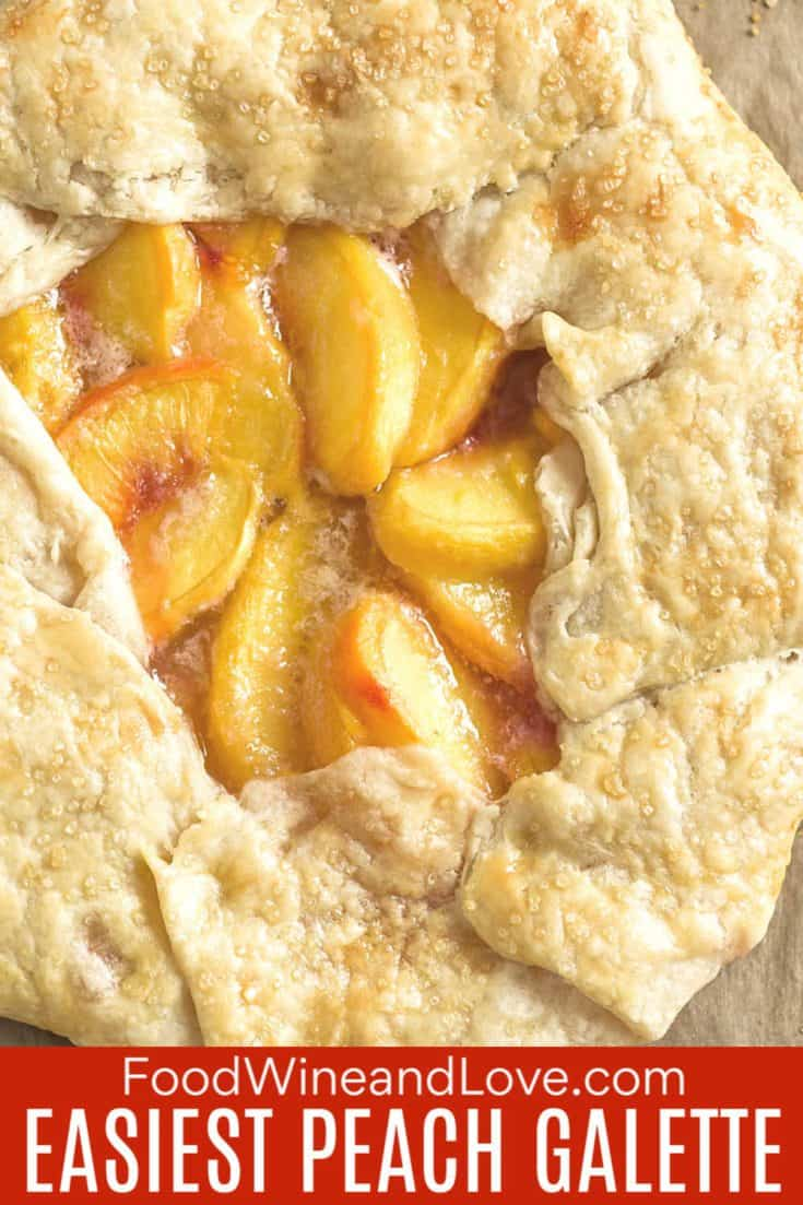 Easiest Peach Galette #dessert #pastry #pie #galette #yummy #recipe