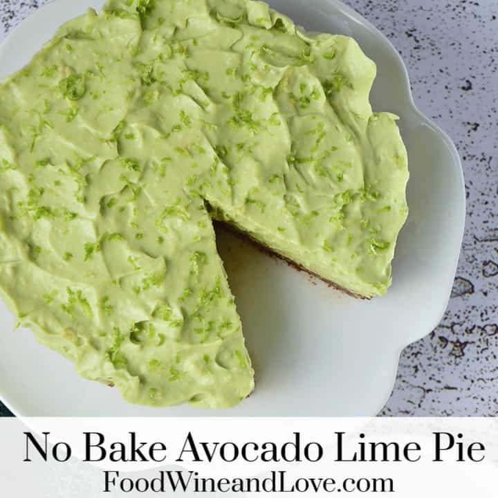 No Bake Avocado Pie With Lime