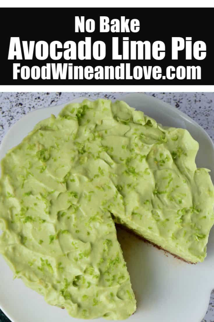 No Bake Avocado Pie With Lime #nobake #pie #recipe #avocado #healthy #meddiet