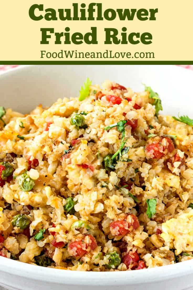 How to Make Cauliflower Fried Rice. This recipe for Cauliflower Fried Rice is a much healthier version than what I am use to eating. I like that it is so friendly to the Mediterranean diet as well as vegan, vegetarian ,and low in carbs. Great Veggie idea!!