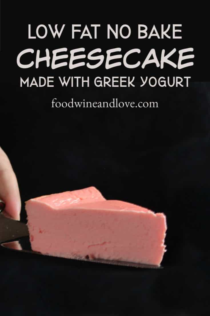 This no bake and low fat cheesecake is simple to make and tastes great!
