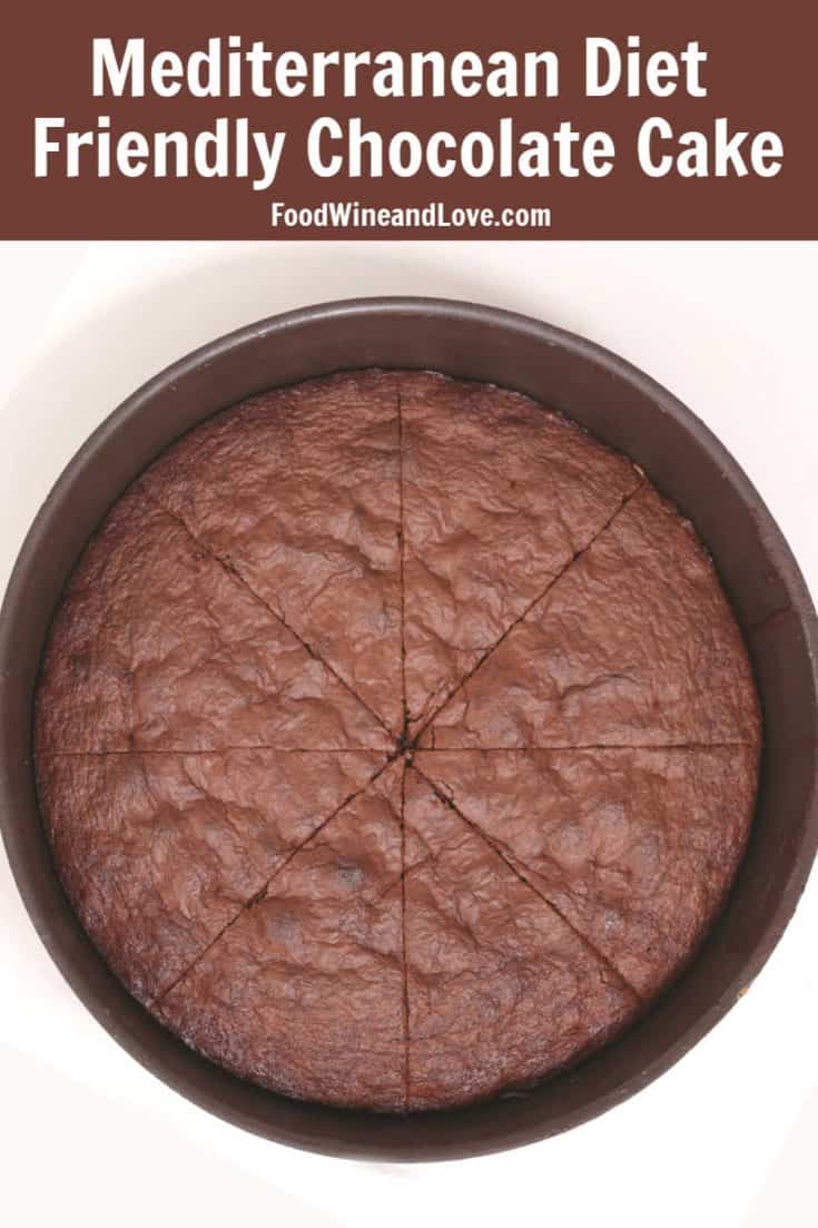 Mediterranean Diet Friendly Chocolate Cake