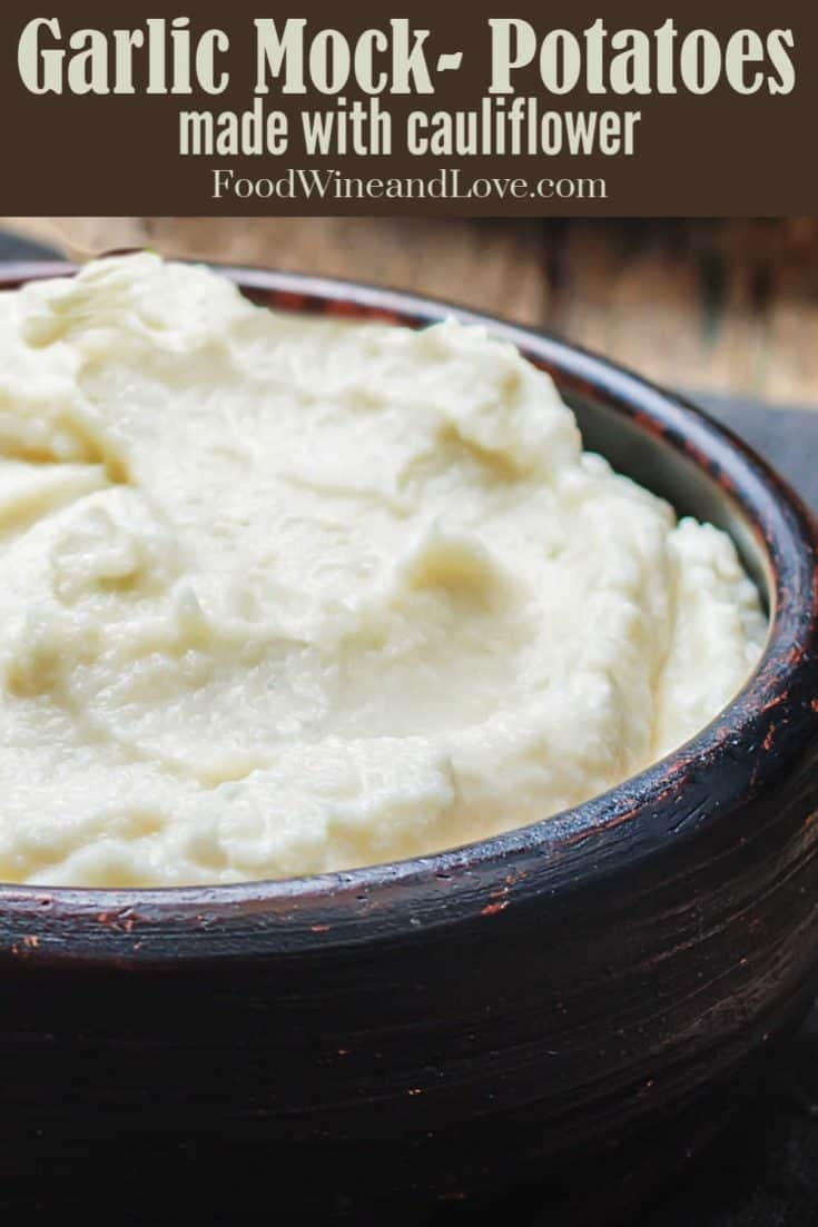Cauliflower Mashed 'Potatoes', an easy recipe for making mashed cauliflower that tastes and looks like potatoes