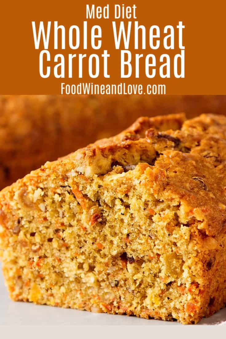Whole Wheat Carrot Bread made with honey, smells and tastes so good!