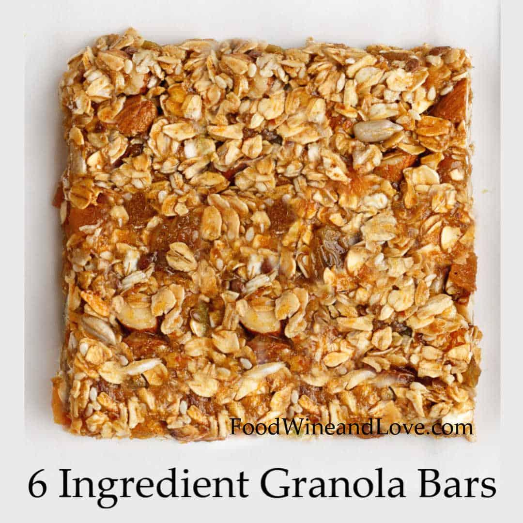 6 Ingredient Granola Bars