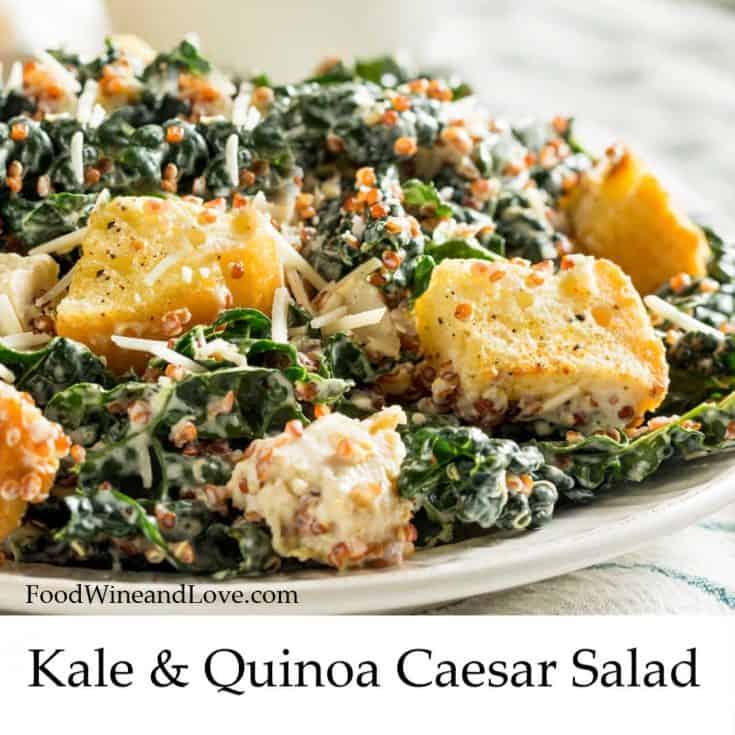 Kale and Quinoa Caesar Salad
