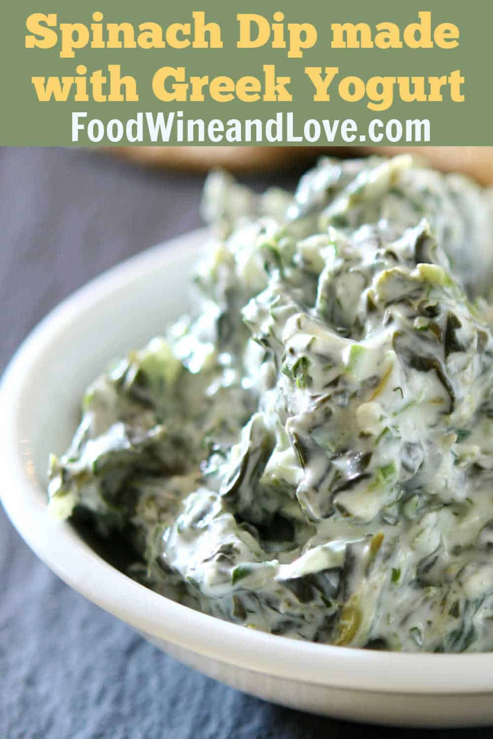 Spinach Dip Made With Greek Yogurt