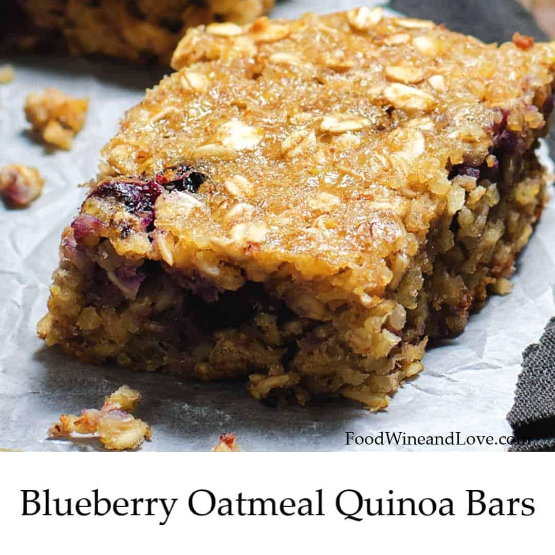 Blueberry Oatmeal Quinoa Bars