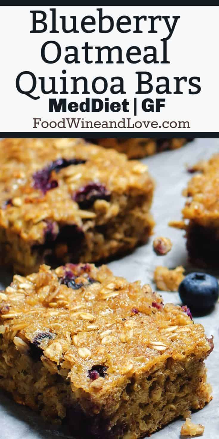 Blueberry Oatmeal Quinoa Bars, These healthy bars are the perfect snack or on the go meal idea. This vegan recipe is easy and delicious!