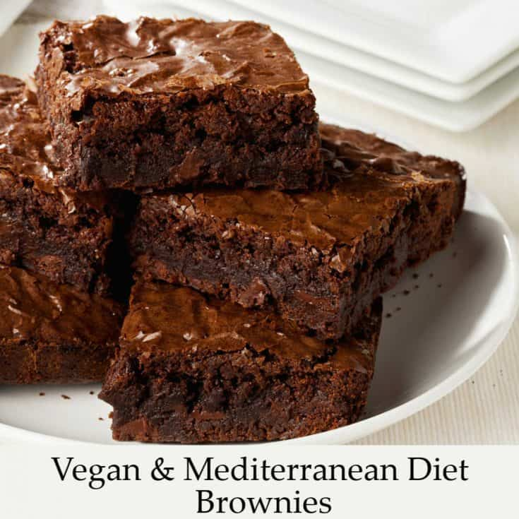 Vegan and Mediterranean Diet Brownies