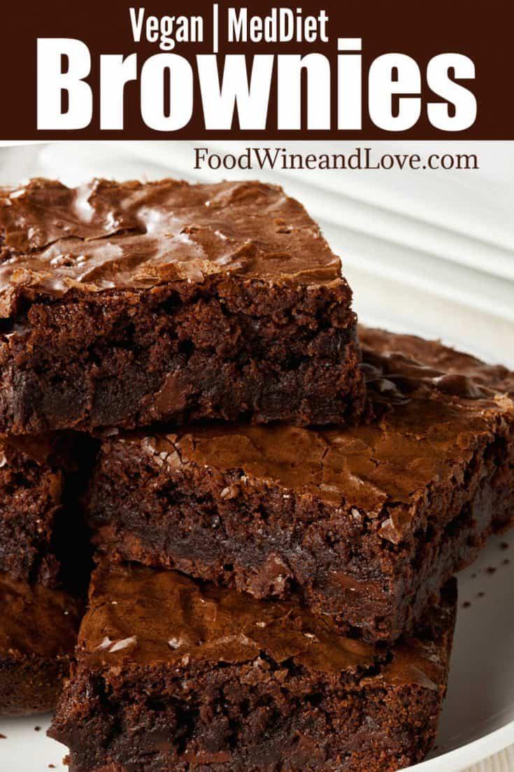 Vegan and Mediterranean Diet Brownies, this recipe for delicious chocolate brownies is Vegan and Mediterranean Diet friendly!
