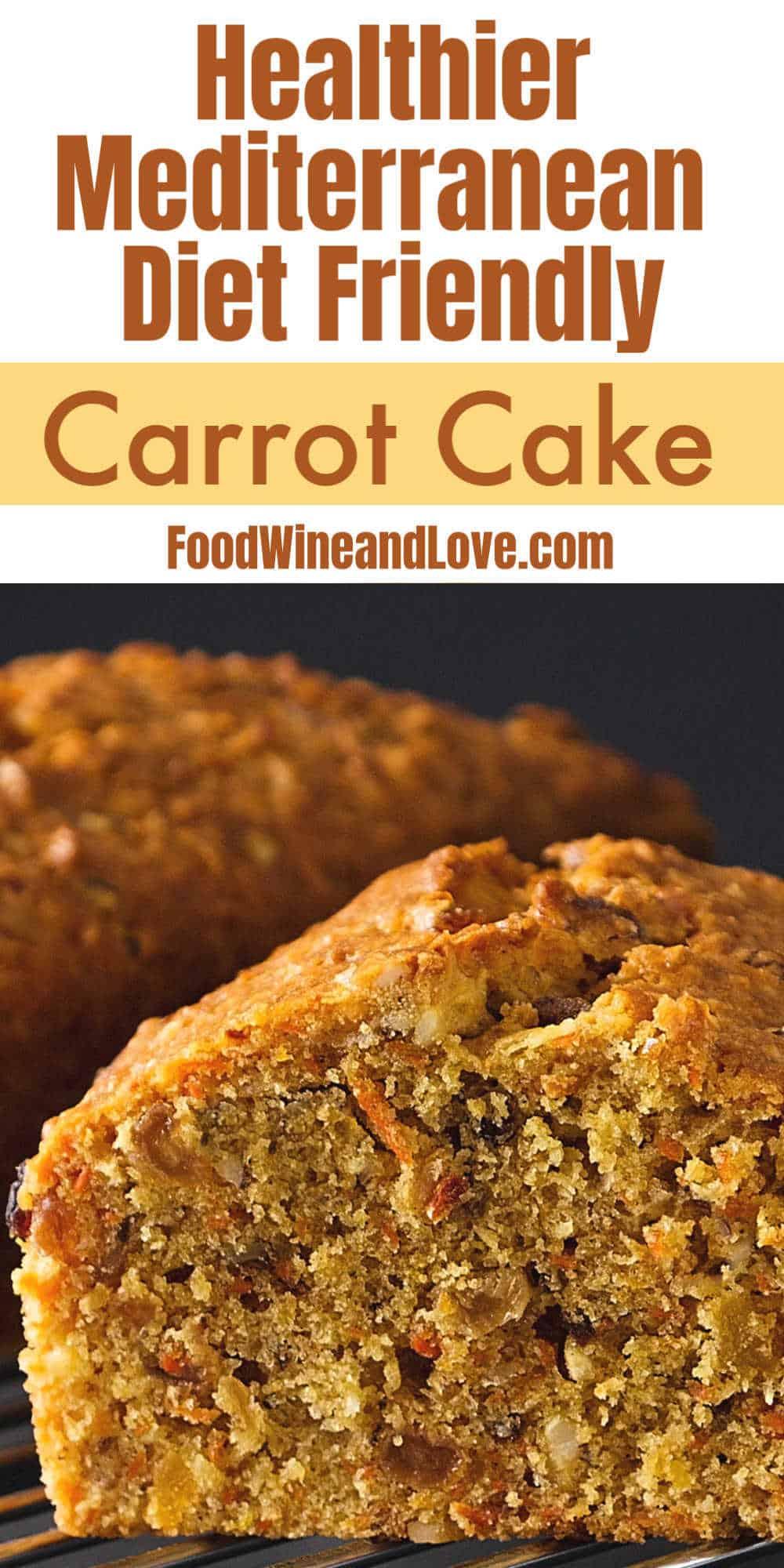 Mediterranean Diet Friendly Carrot Cake
