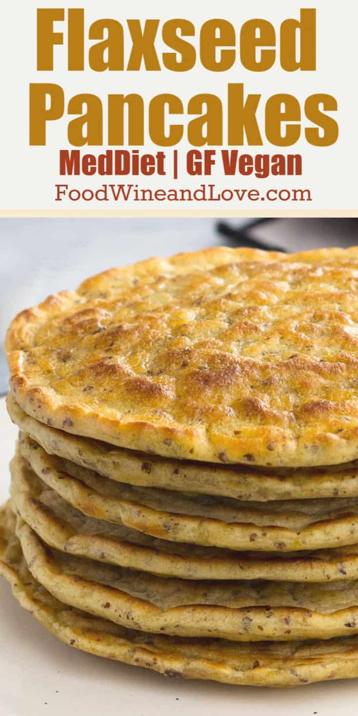 Yummy Flaxseed Pancakes This easy recipe is Mediterranean diet friendly and can be made low in carbs, keto, and gluten free