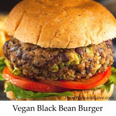 Yummy Vegan Black Bean Burger!