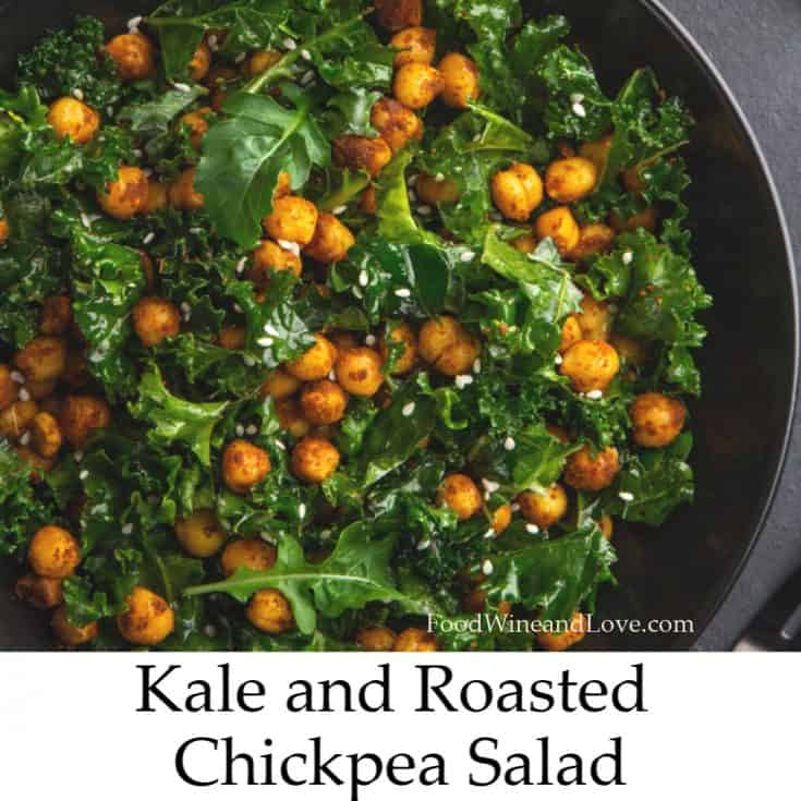 Kale and Roasted Chickpea Salad