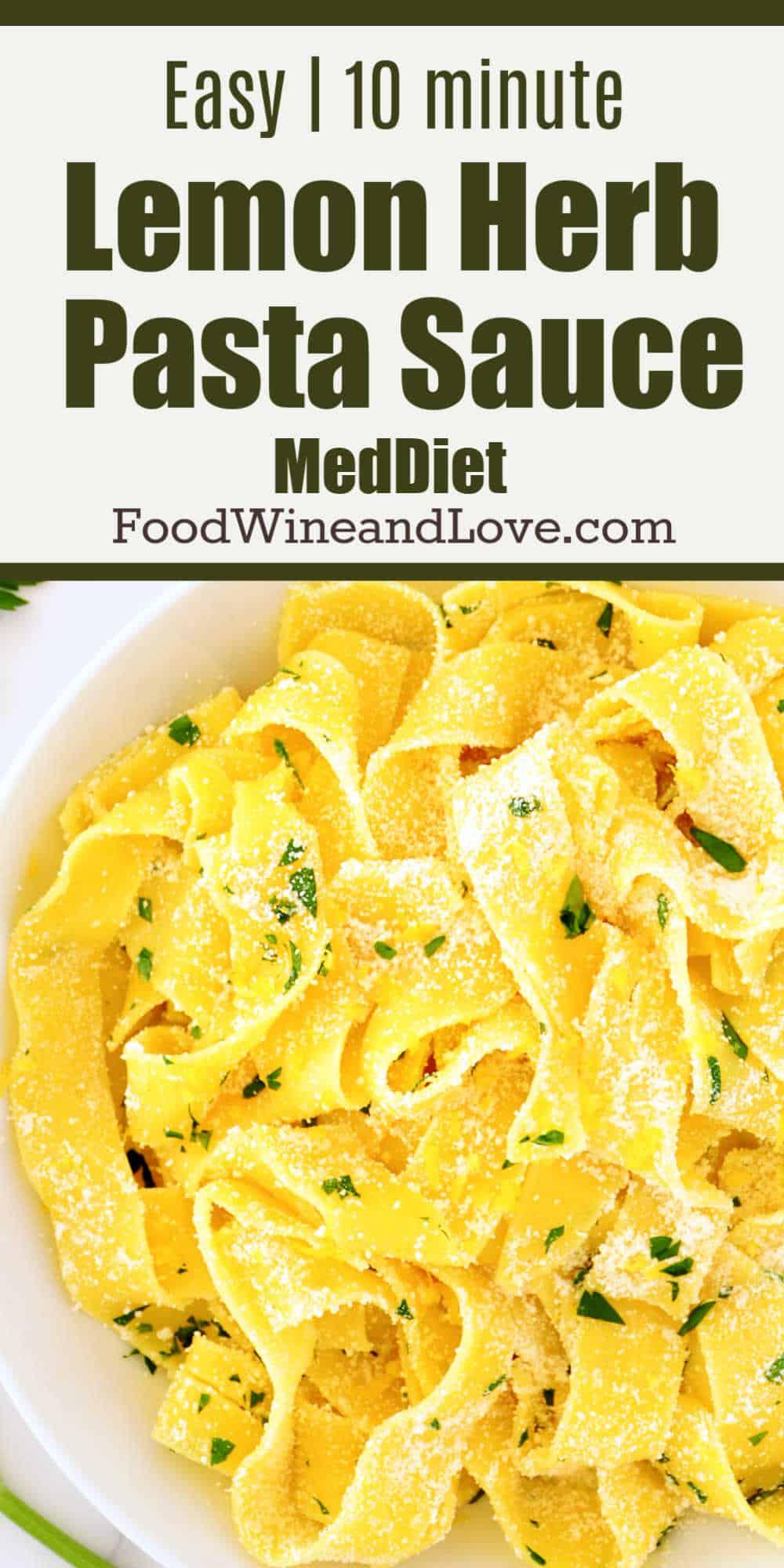Easy Pasta in Lemon Sauce
