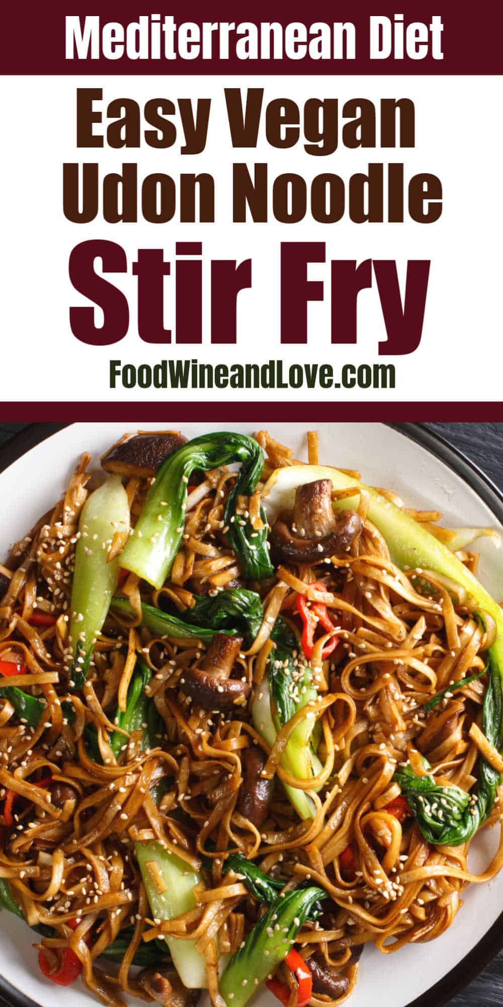 Vegan Udon Noodle Stir Fry