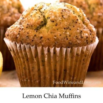 Healthier Lemon Chia Muffins
