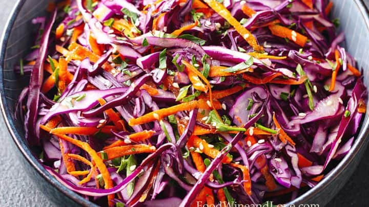Red Cabbage And Carrot Coleslaw Food Wine And Love