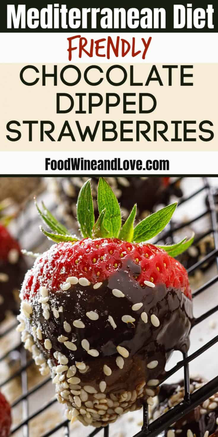Mediterranean Diet Friendly Chocolate Dipped Strawberries recipe that includes healthy ingredients, perfect for dessert or snack