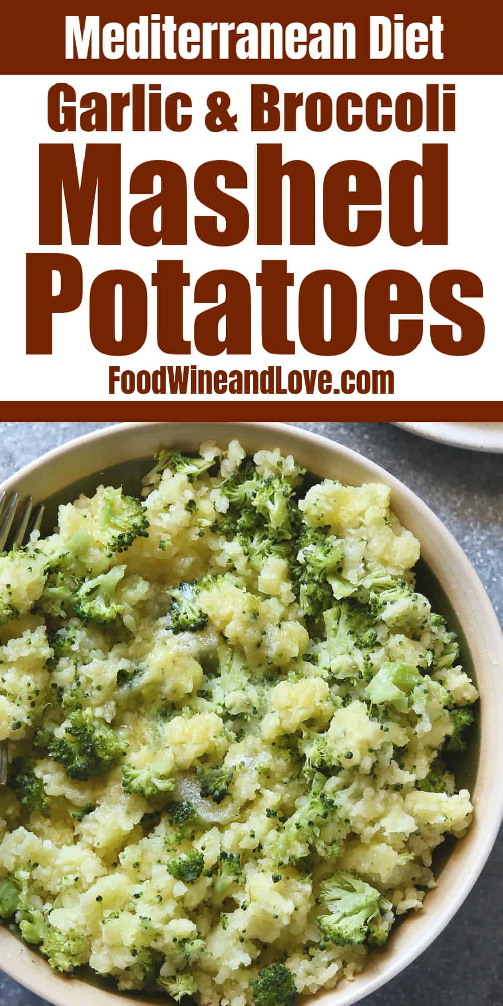 Broccoli Garlic Mashed Potatoes