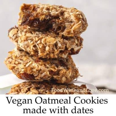 Vegan Oatmeal Date Cookies
