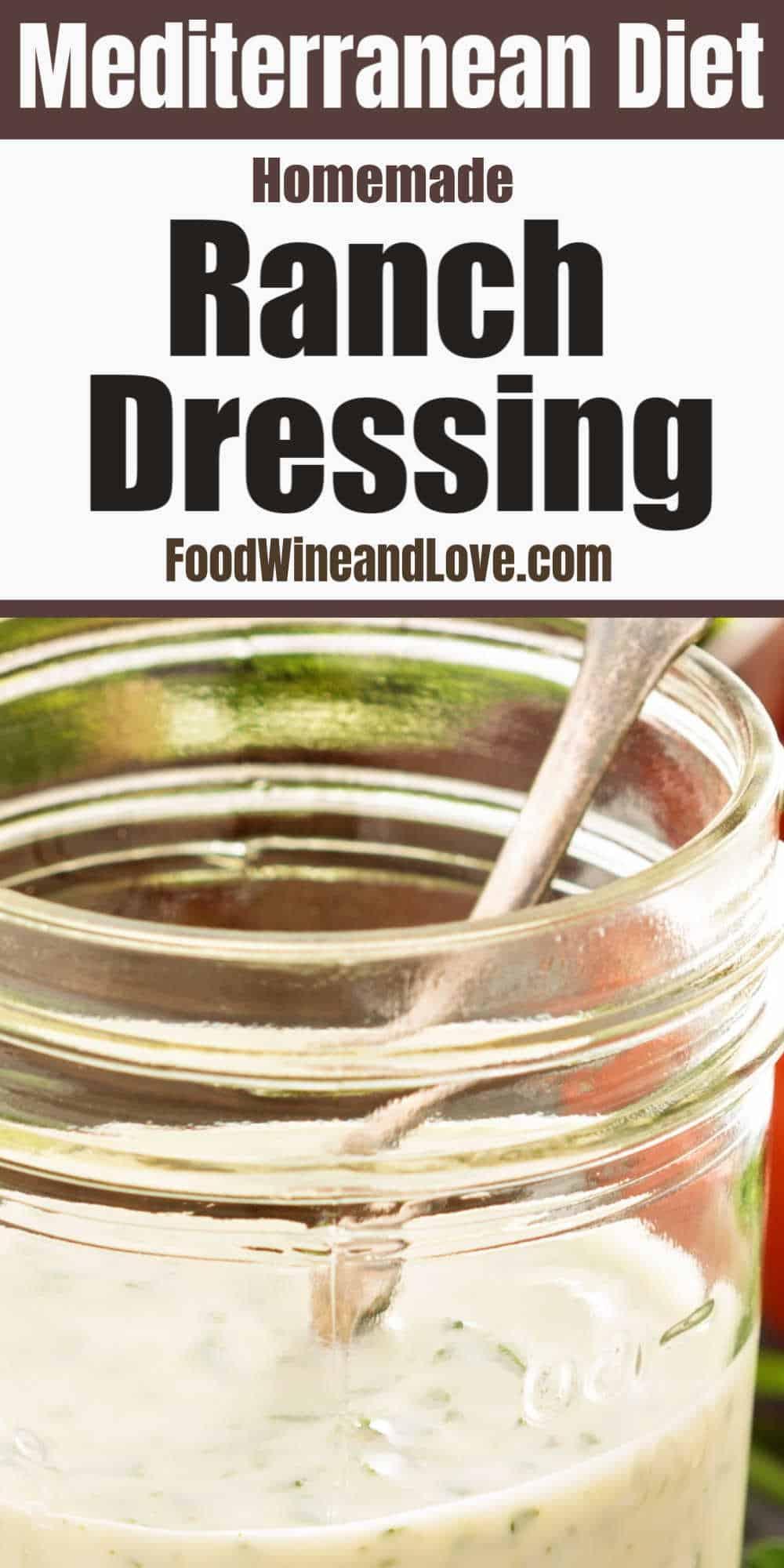 Mediterranean Diet Ranch Dressing