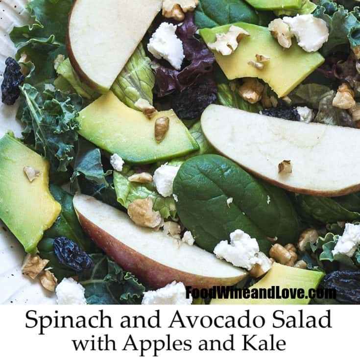 Avocado Apple and Spinach Salad