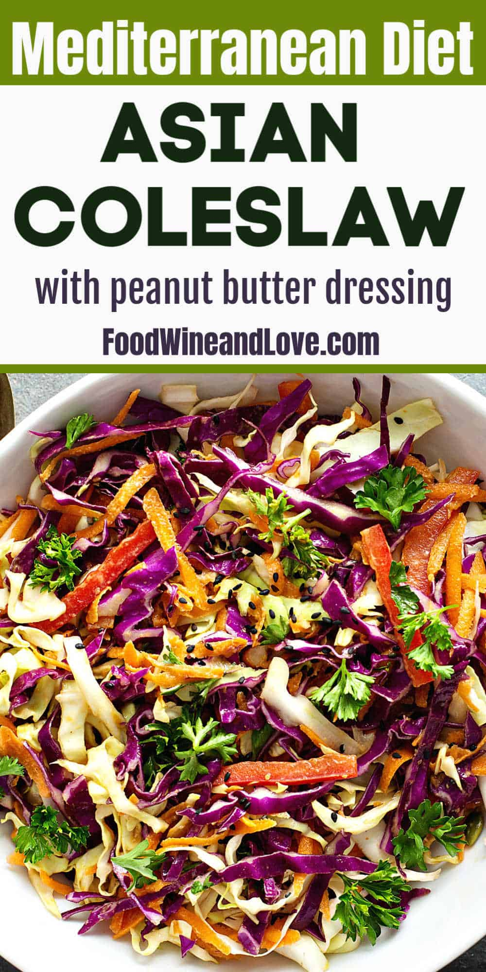 Asian Coleslaw With Peanut Butter Dressing