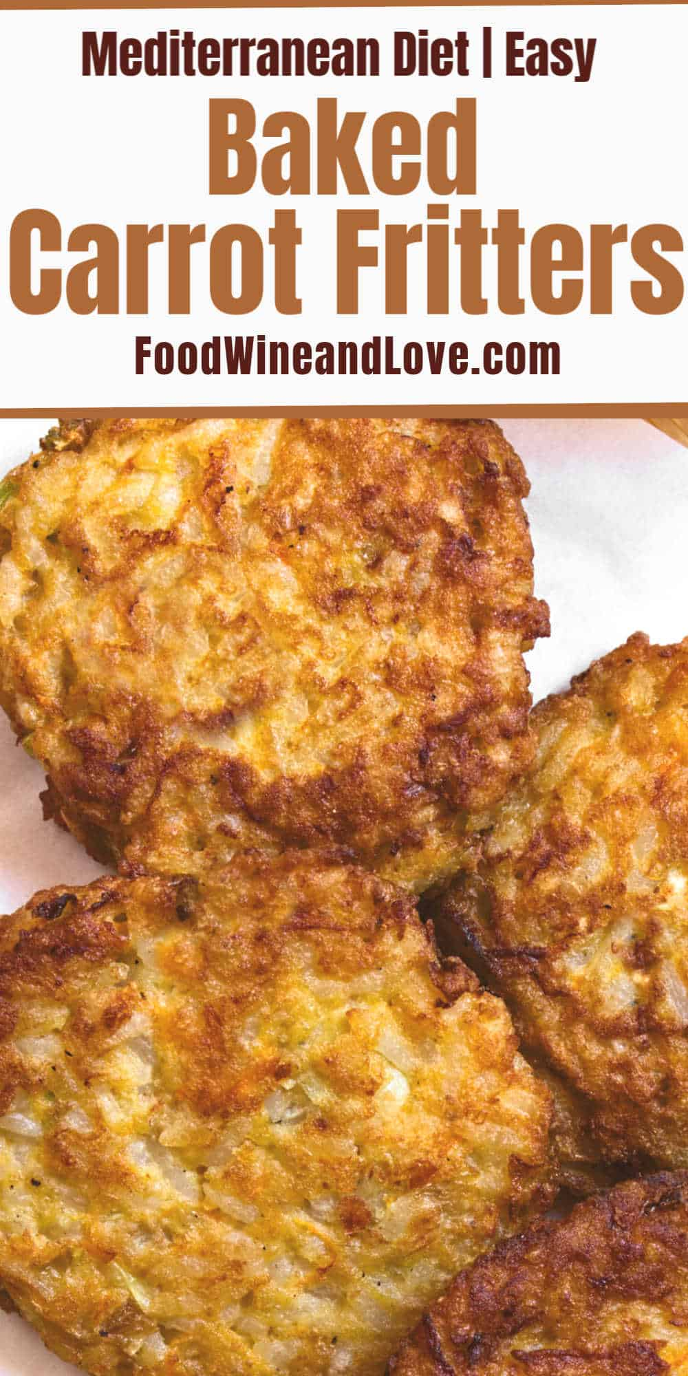 Baked Carrot Fritters