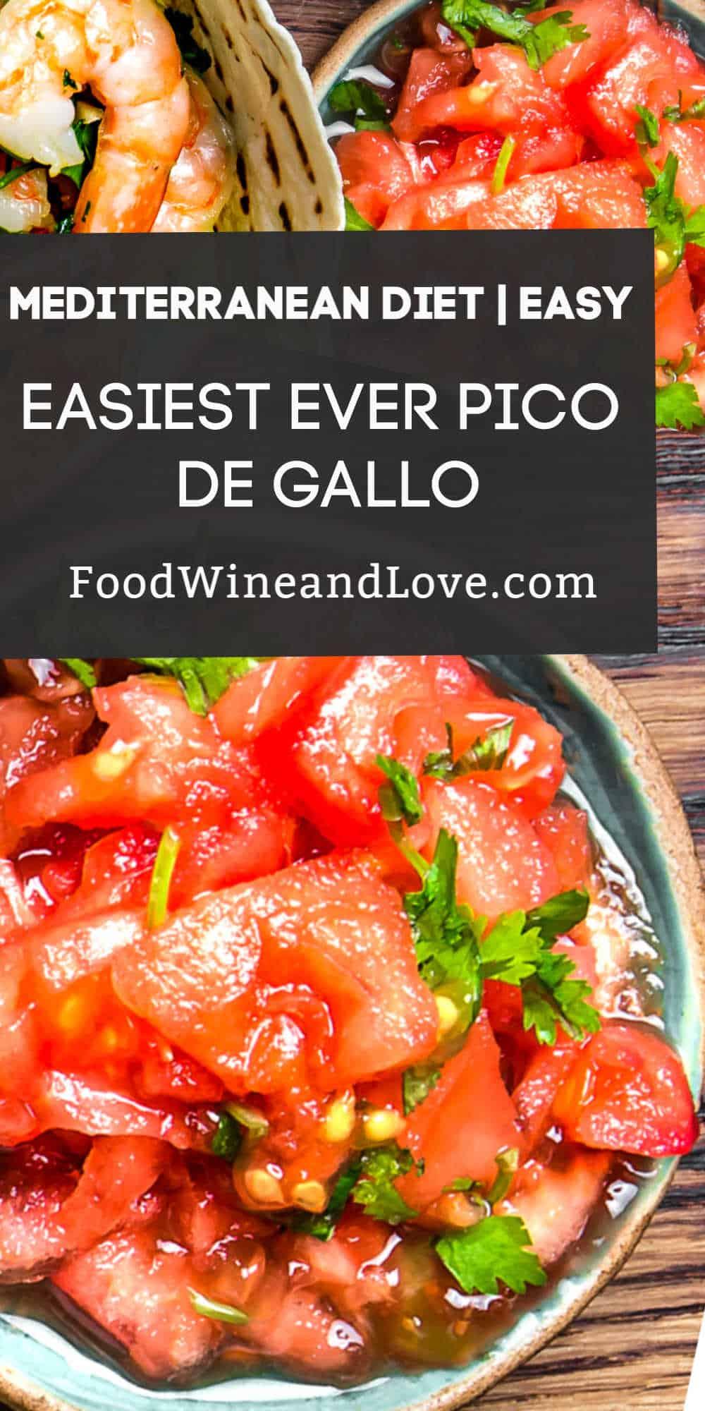 The Easiest Ever Pico De Gallo