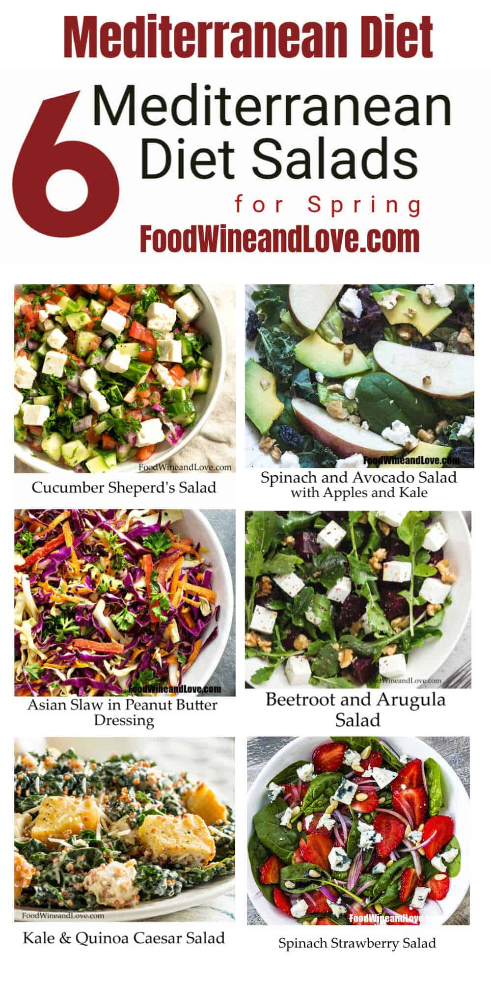 6 Mediterranean Diet Salads for Spring