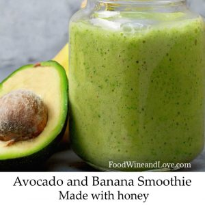 Avocado Banana Smoothie Made With Honey